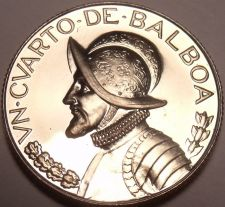 Buy Rare Proof Panama 1972 1/4 Balboa~Proofs Have Lower Mintages~13,323 Minted~Fr/Sh
