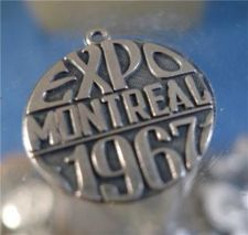 Buy CHARM: vintage sterling 925 silver 1967 EXPO MONTREAL ISJC