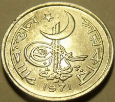 Buy Gem Unc Pakistan 1971 1 Paisa~Awesome Cresent Moon Coin~Free Shipping