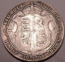 Buy Huge Rare Silver Great Britain 1904 Half Crown~Very Scarce Half Crown~Free Ship