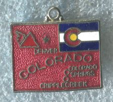 Buy ENAMEL U.S. STATE MAP TRAVEL CHARM : COLORADO SOUVENIR w/ FLAG