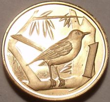 Buy Rare Proof Cayman Islands 1974 Cent~Great Caiman Thrush~Only 30,000 Made~Fr/Ship