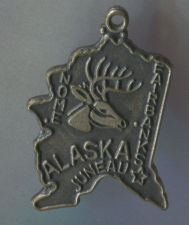 Buy TRAVEL SOUVENIR MAP CHARM : ALASKA NOME FAIRBANKS JUNEAU : JAPAN