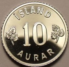 Buy Rare Proof Iceland 1974 10 Aurar~Only 15,000 Minted~Last Year Ever~Free Shipping
