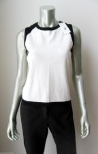 Buy LizGolf NEW Wht Stretch Cotton Breath-Vent Design Sleeveless Knit Tank Top M PR