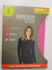 Buy Danskin Now Pink Performance Baselayer Tagless Brushed Crew Neck Top M 8-10