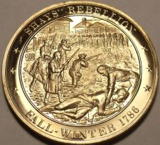 Buy 1786~SHAYS REBELLION~RELIGIOUS FREEDOM~MASSIVE FRANKLIN MINT BRONZE~FREE SHIP~