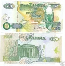 Buy FANTASTIC ZAMBIA 20 KWACHA CRISP NOTE~~FREE SHIPPING~~