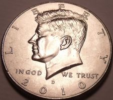 Buy United States Unc 2010-D Kennedy Half Dollar~Free Shipping