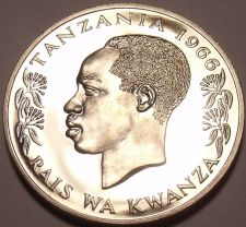 Buy Rare Proof Tanzania 1966 50 Senti~5,500 Minted~Rabbit~Fantastic~Free Shipping