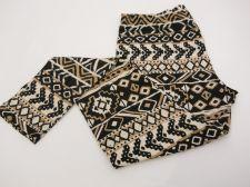 Buy SIZE M Womens Sueded Jersey Leggings NO BOUNDARIES Tribal Aztec Print Inseam 28