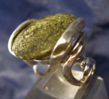 Buy Sz 6 Ring By Nf Sterling 925 Silver Great Setting Unknown Green Stone