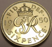 Buy Rare Proof Great britain 1950 6 Pence~Only 18,000 Minted~Free Shipping
