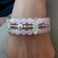Buy Beautiful Lady's Handmade Pink Aventurine Bracelet
