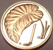 Buy Rare Proof Cook Islands 1975 Cent~Only 21,000 Minted~Taro Leaf~Free Shipping