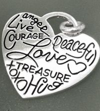 Buy HEART CHARM: WORDS OF LOVE by LA (CONJOINED) ROCKS sterling