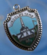 Buy LINCOLN'S TOMB : ENAMEL TRAVEL VACATION SOUVENIR CHARM : sterling