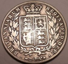Buy Huge Rare Silver Great Britain 1875 Half Crown~Not Many Of These Around~Free Shi