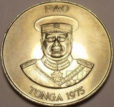 Buy Rare Gem Unc Tonga 1975 F.A.O. PA'Anga~Only 13,000 Minted~100 Palm trees~Free Sh