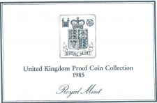 Buy 1985 Great Britain 7 Coin 2 Page C.O.A. Document Set~Free Shipping