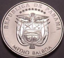 Buy Huge Gem Unc Panama 2014 Half Balboa~Panama Canal 100 Year Anniversary~Free Ship