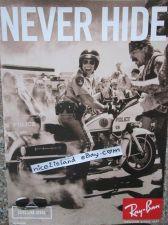 Buy Motorbike COP Photo Ray Ben Never Hide Sunglass Print Ad Poster 8 x11 Waterproof