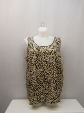 Buy PLUS SIZE 2X Womens Tank Top FADED GLORY Animal Print Scoop Neck Sleeveless