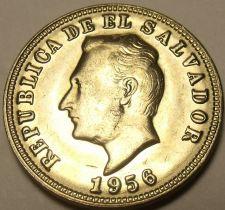 Buy Gem Unc El Salvador 1956 5 Centavos~Francisco Morazan~Excellent~Free Shipping