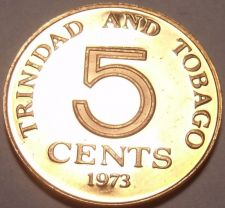 Buy Proof Trinidad & Tobago 1973 5 Cents~Last Year Ever Minted~Only 20,000 Made~F/S