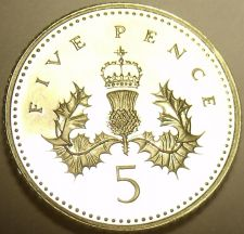 Buy Cameo Great Britain 1994 5 Pence~We Have UK Coins~Awesome~Free Shipping