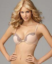 Buy A0374 Calvin Klein CK NEW F2808 Women's Peach Lace Seamless Push-Up Unerwire Bra