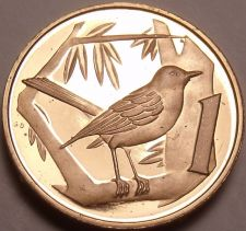 Buy Rare Proof Cayman Islands 1975 Cent~Great Cayman Thrush~Only 7,175 Minted~Fr/Shi