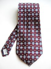 Buy A0475 Gap NEW Men's 100% Silk Flower Patterned Wide Short Neck Tie Made In USA