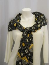 "Buy 18 Collectioneighteen Black Geometric Stole Shawl Wrap Scarf 76""X 27"""