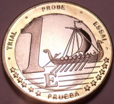 Buy Rare Sweden 2003 Bi-Metal 1 Euro~Essai Trial Preuba Pattern Proof~17K Minted~F/S
