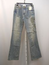 Buy Milano Moda Embellished Stonewashed Women's Boot Cut Legs 30X33 Jeans Size 7-8