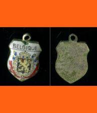 Buy BELGIQUE Enamel & Silver Travel Shield Souvenir Charm
