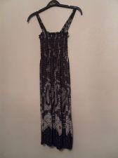 Buy Lati Fashion Sundress Black and White Geometric Pattern Size Medium