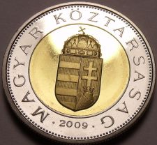 Buy Rare Bi-Metal Proof Hungary 2009-BP 100 Forint~Only 5,000 Minted In Budapest~F/S
