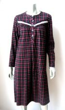 Buy Simply Basic NEW Stretch Plaids Long Sleeve 5-Bittoned Pullover Sleep Gowns S PR
