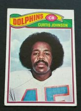 Buy VINTAGE CURTIS JOHNSON MIAMI DOLPHINS 1977 TOPPS FOOTBALL GD-VG