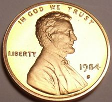 Buy SUPER PROOF 1984-S LINCOLN CENT<VERY TOUGH DATE>FR/SHI