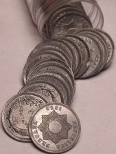 Buy Very Scarce Unc Roll (50 Coins) Peru 1950 Centavo Coins~1st Year~Zinc~Free Ship