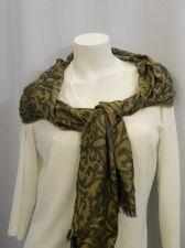 "Buy Style &Co Women's Scarf 70""X 22"" Brown Straw Paisley Wrap Shawl Stole 100% Modal"