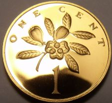 Buy Rare Cameo Proof Jamaica 1975 Cent~Only 16,000 Minted~Ackee fruit~Free Shipping