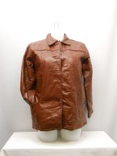 Buy SIZE L Womens 100% Genuine Leather Button Jacket TUDOR COURT Bordeaux Zip Lining