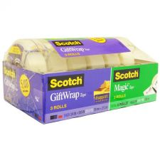 Buy Scotch 3 Rolls Magic Tape & 3 Rolls Gift Wrap Tape
