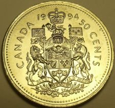 Buy Gem Unc Canada 1994 50 Cents~Elizabeth II~Free Shipping