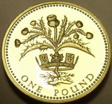 Buy Cameo Proof Great Britain 1989 Pound~No one will attack me with impunity~Free Sh