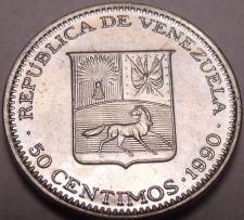 Buy Gem Unc Venezuela 1990-I 50 Centimos~Simon Bolivar~Fantastic~Free Shipping